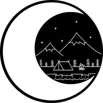 Acampar en la Luna Negro de smalltownnc