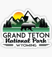 GRAND TETON NATIONAL PARK WYOMING HIKING CAMPING CLIMBING MOUNTAINS Sticker