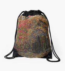 Evocative Autumn Drawstring Bag