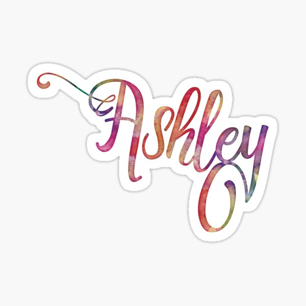 Ashely - watercolor Sticker