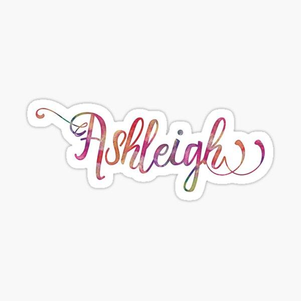 Ashleigh - watercolor Sticker