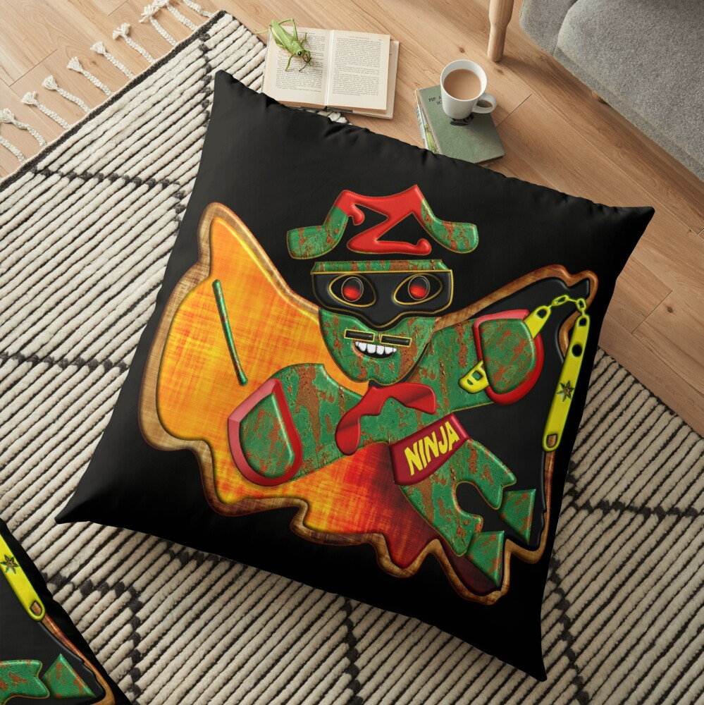 THE LEGEND OF ZORRO IN HIS NEW ADVENTURES FOR KIDS - ZORRO NINJA BUTTERFLY - HALLOWEEN PARTY - CHRISTMAS PARTY - SUPER FUN GIFT FOR THE HOLIDAYS4. Floor Pillow