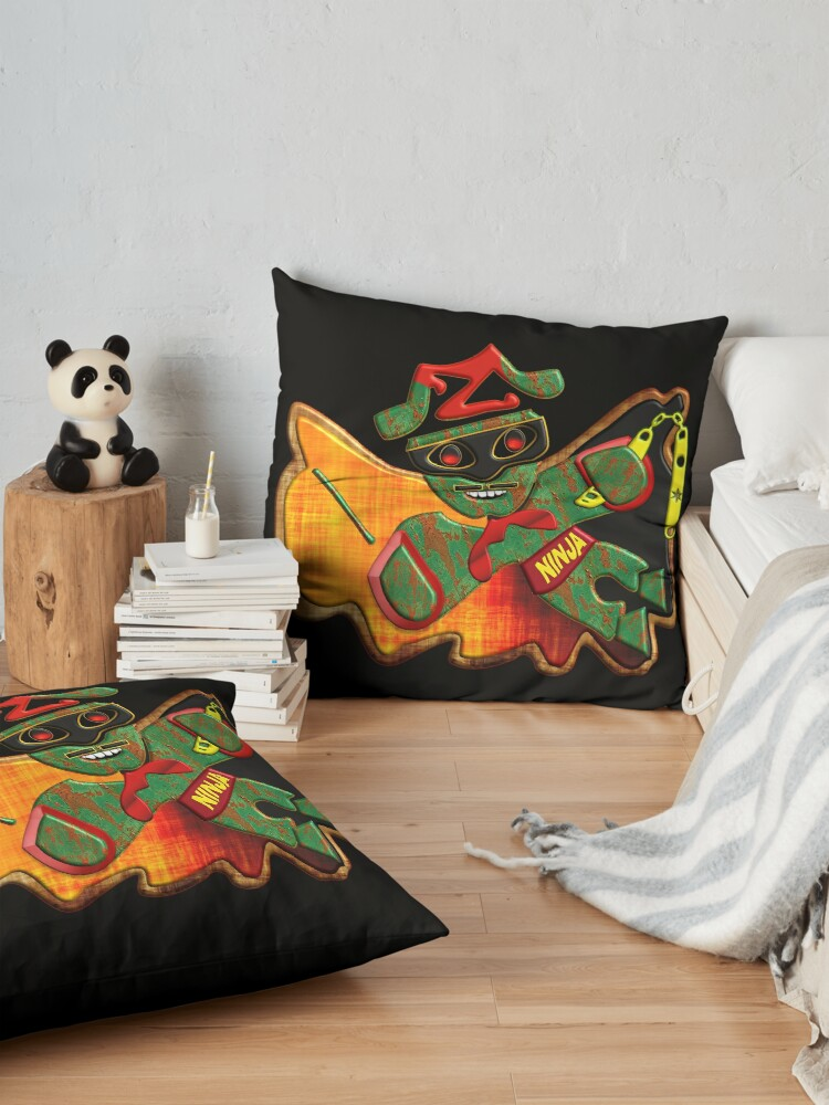 Alternate view of THE LEGEND OF ZORRO IN HIS NEW ADVENTURES FOR KIDS - ZORRO NINJA BUTTERFLY - HALLOWEEN PARTY - CHRISTMAS PARTY - SUPER FUN GIFT FOR THE HOLIDAYS4. Floor Pillow