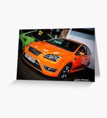 Focus ST Orange Greeting Card