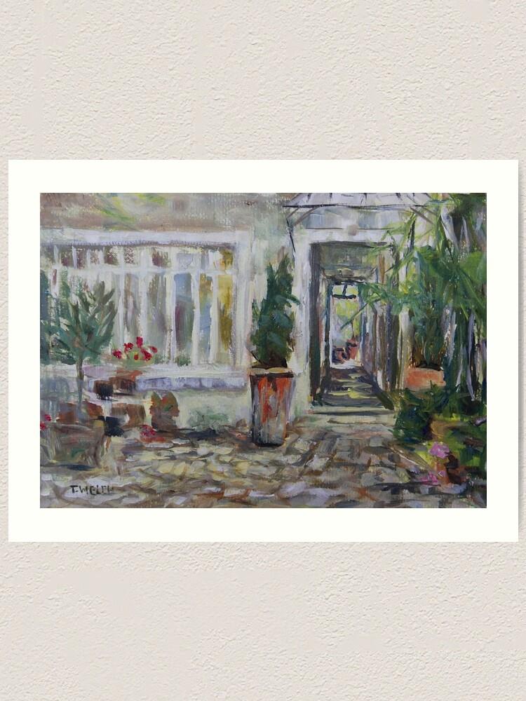 Alternate view of Double courtyard Rue Rodier Paris France Art Print
