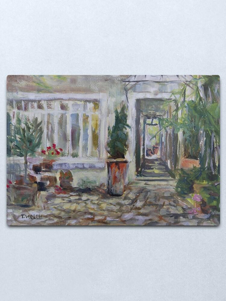 Alternate view of Double courtyard Rue Rodier Paris France Metal Print