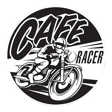 Get Cafe Racer TV merchandise with a classic black & white logo by CafeRacerTV