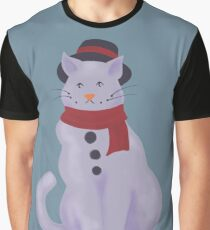 Frosty the Snowcat Graphic T-Shirt