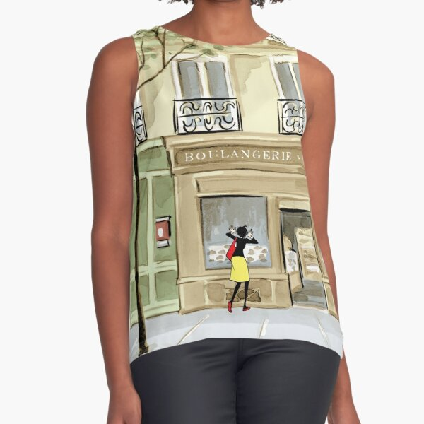 Bandette At The Boulangerie Sleeveless Top