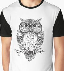 Owl sketch with numbers, glasses Graphic T-Shirt