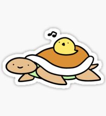 Turtle and Baby Chick Sticker