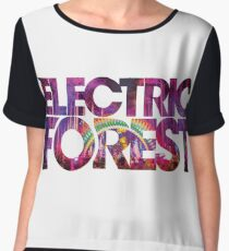Electric Forest Chiffon Top