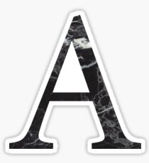 black marble a // alpha Sticker