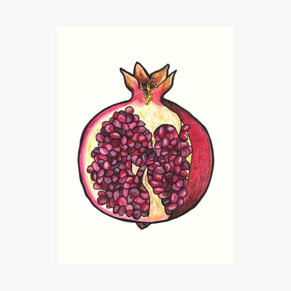 Granatapfel Kunstdruck