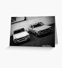 Classic Ford x 2  Greeting Card