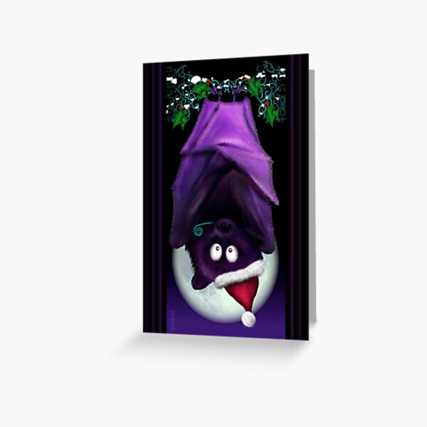 SNUGBAT XMAS GOTH CHRISTMAS Greeting Card