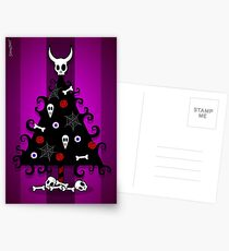GOTHIC BONE XMAS TREE Postcards