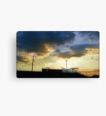 Sunset over Ed Defore Stadium Canvas Print