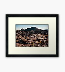 Craters of the Moon Framed Print