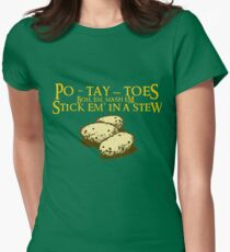 Po-tay-toes Womens Fitted T-Shirt