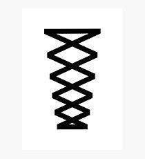 Corset in Black & White  Photographic Print