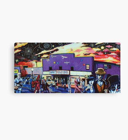 'All Come out to Play on a Friday Night (in NoDa)' Canvas Print