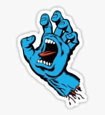 Screaming Hand Sticker