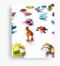 Toy T-Rex Army Canvas Print