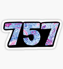 757 Lilly Sticker
