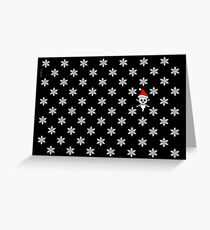 POLKA SKULL CROSSBONES XMAS Greeting Card