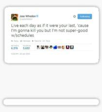 Joss Whedon Tweet Design Sticker
