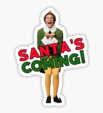 Buddy the Elf Christmas Santa Sticker