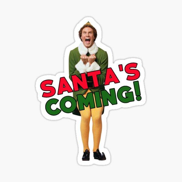 Buddy the Elf Christmas Santa Sticker