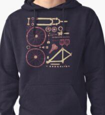 Bicycle Parts Pullover Hoodie