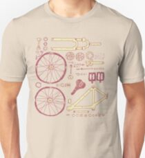 Camiseta unisex Partes de la bicicleta