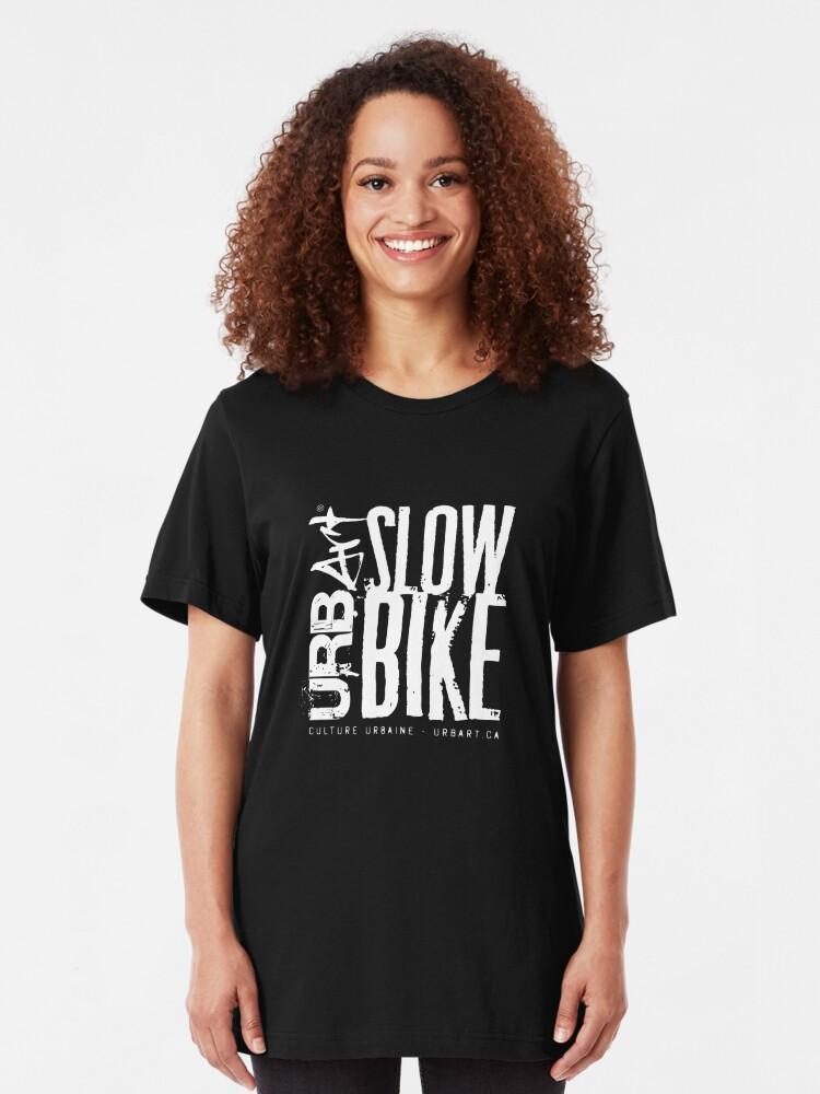 T-shirt ajusté ''UrbArt® - Slow Bike': autre vue