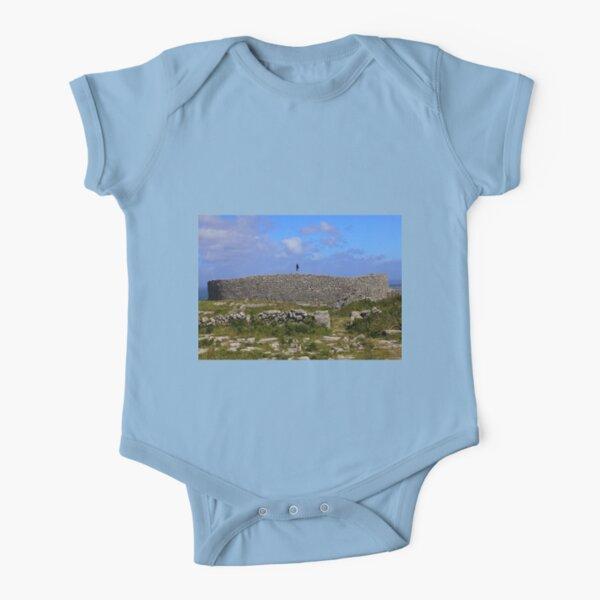 Dun Eochla Stone Fort - Inishmore Short Sleeve Baby One-Piece