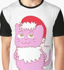 Christmas Cat Meow Design  Graphic T-Shirt
