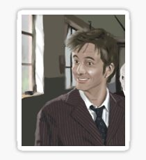 10th Doctor fanart Sticker
