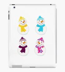 Vector cute snowman collection : 4 snowmens iPad Case/Skin