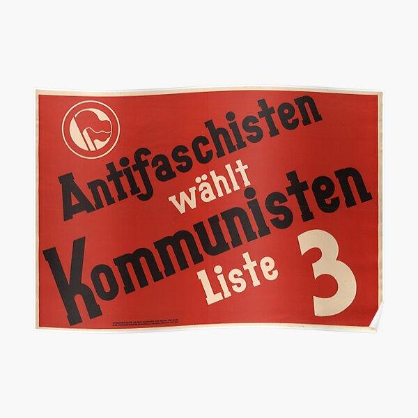 Antifascists vote communist! Poster