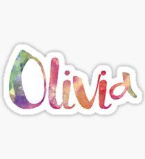 Olivia - watercolor name Sticker