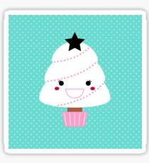 Beautiful cartoon Christmas Tree Vector Sticker