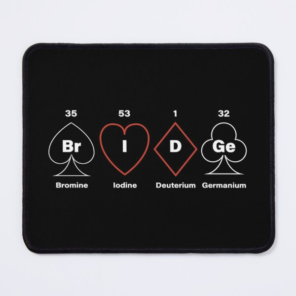 Periodic Table Bridge. For contract bridge players. Mouse Pad