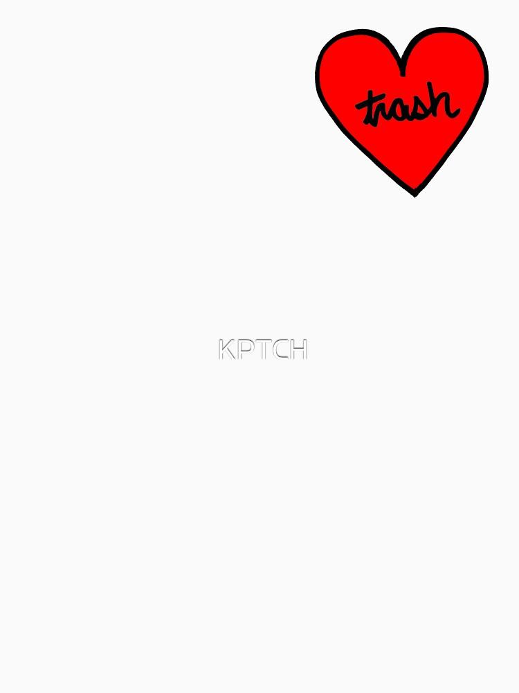 I LOVE TRASH heart patch by KPTCH