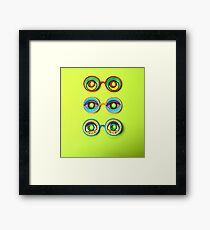Retro Psychedelic Toy Glasses Framed Print