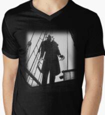 Nosferatu Symphony of Horror Vampire Graphic Design Men's V-Neck T-Shirt