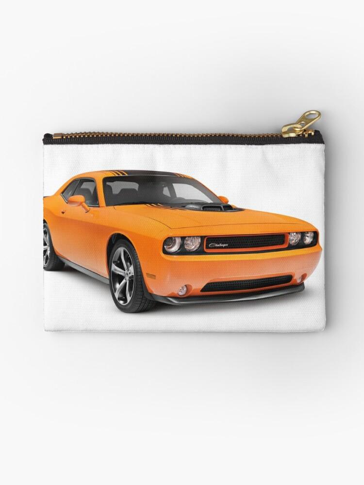 """2014 dodge challenger muscle car art photo print"""" studio pouches"""
