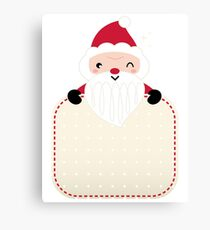 Retro Santa greeting card : vintage red Canvas Print