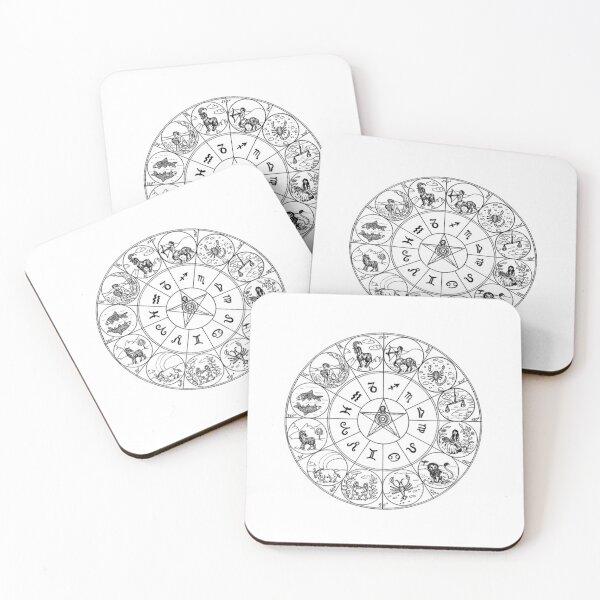 zodiac diagram Coasters (Set of 4)
